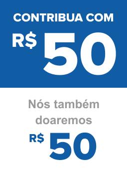 Contribua com R$ 50